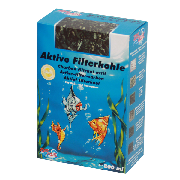 Aktive Filterkohle, 800ml Faltschachtel