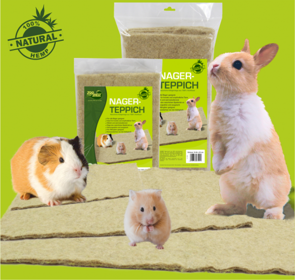 rodents//rabbits Cage floor mats high-density//high-durability 7//8 mm. 100/% hemp in rolls of 5 m x 54 cm